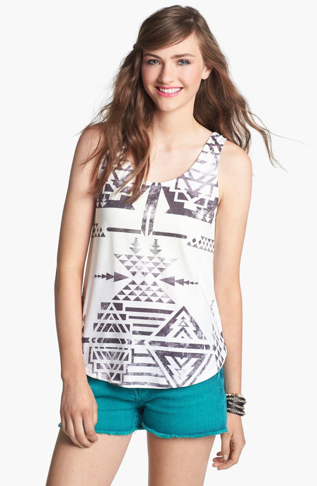 Alternate Image 1 Selected - Elodie Tribal Print Tank (Juniors)