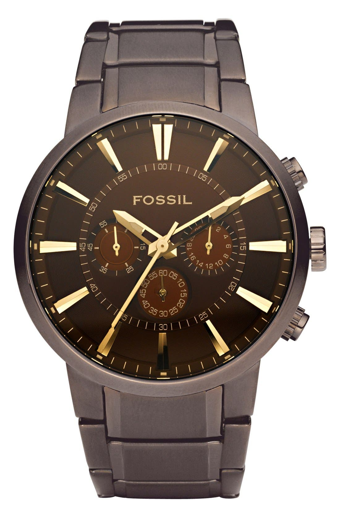 Alternate Image 1 Selected - Fossil Chronograph Bracelet Watch, 45mm