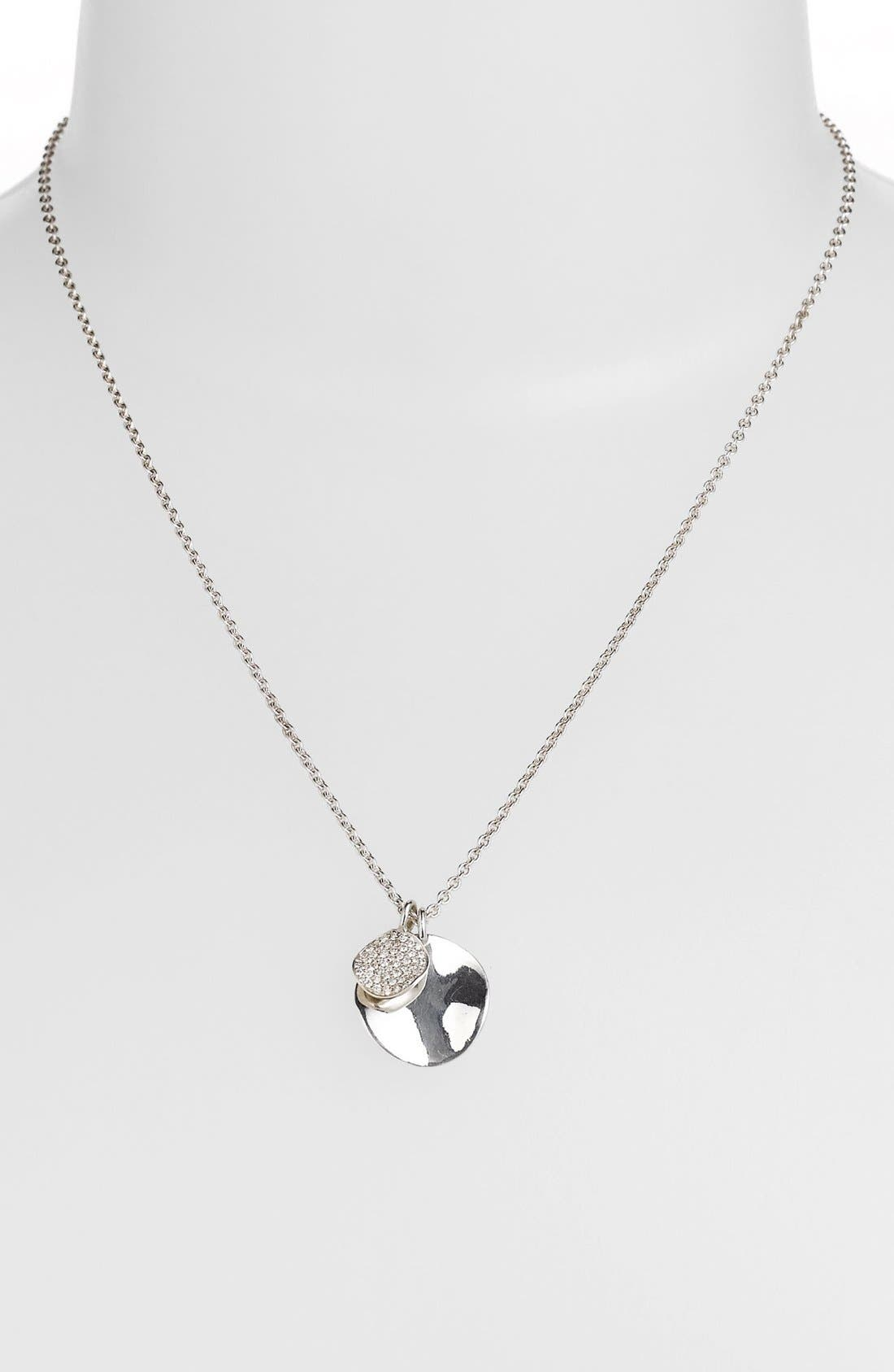 Alternate Image 2  - Ippolita 'Silver Diamond' Cluster Pendant Necklace (Online Only)