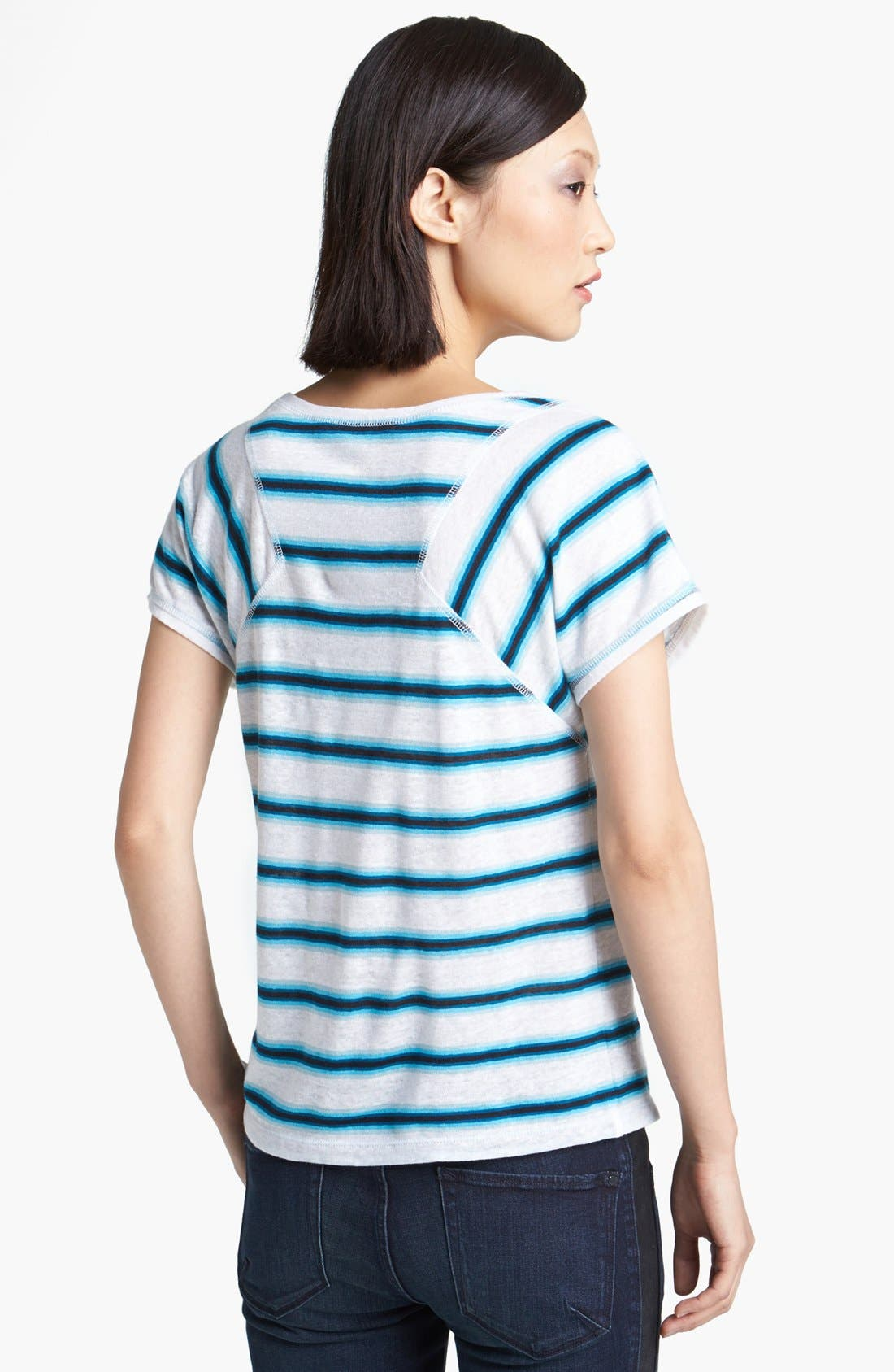 Alternate Image 2  - MARC BY MARC JACOBS Stripe Linen Tee
