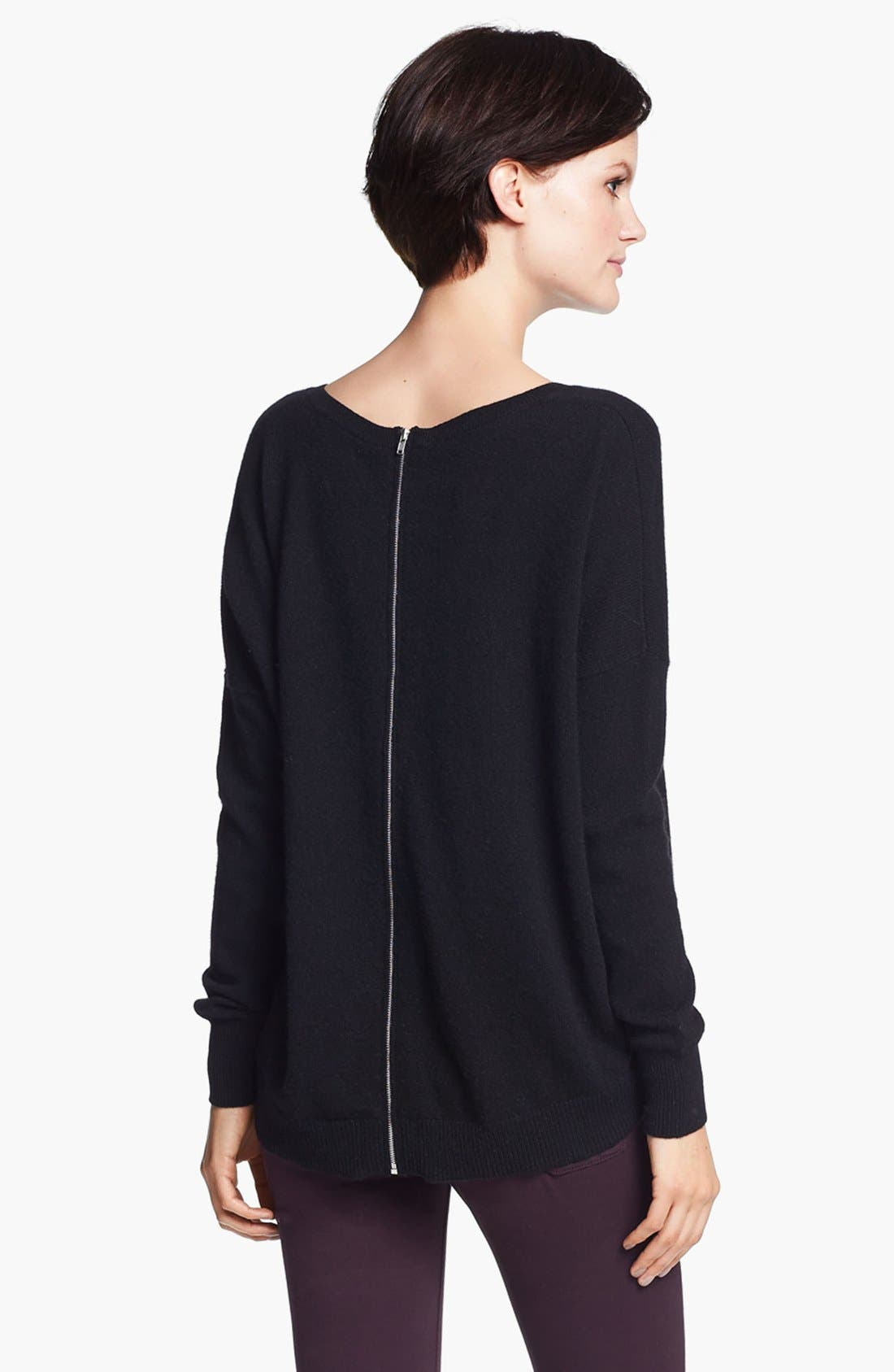 Alternate Image 4  - autumn cashmere Back Zip Cashmere Sweater
