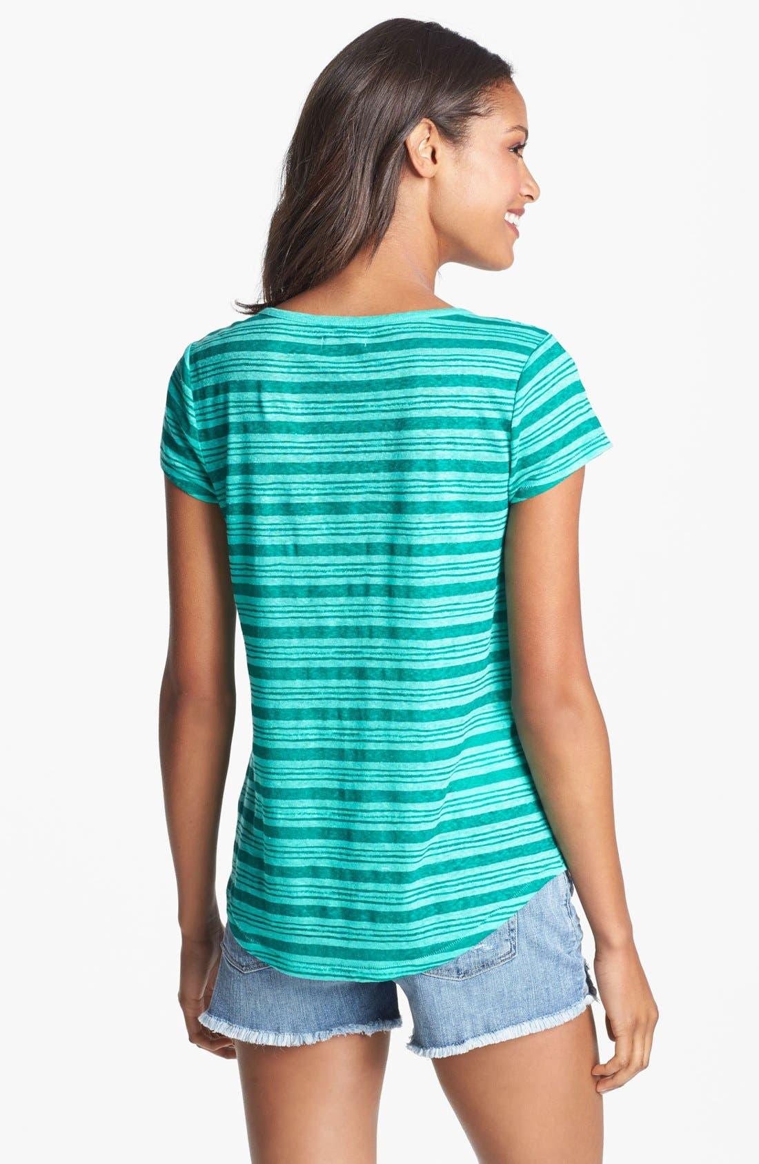 Alternate Image 2  - Lucky Brand 'Catarina' Stripe Linen Tee