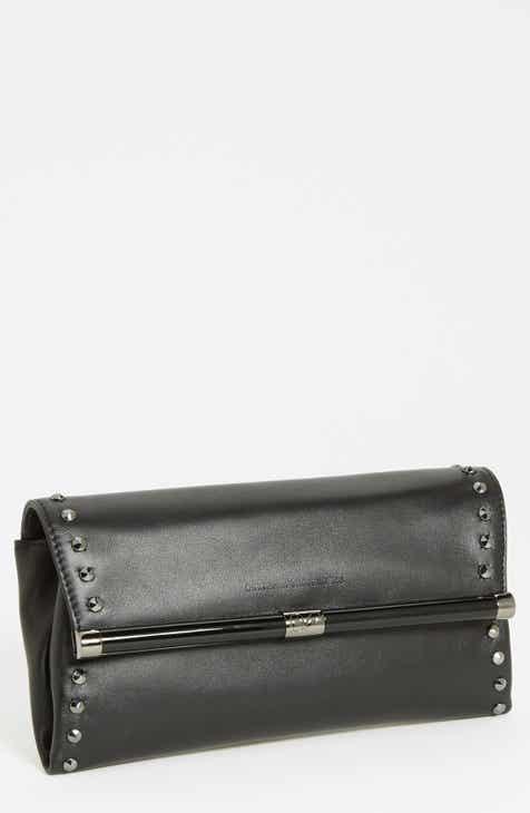 Diane Von Furstenberg 440 Envelope Studded Leather Clutch