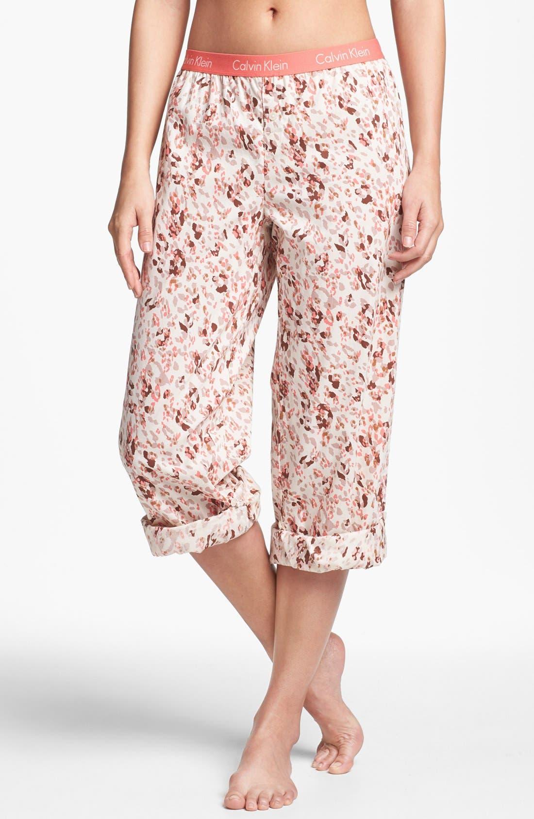 Main Image - Calvin Klein Roll Up Pajama Pants