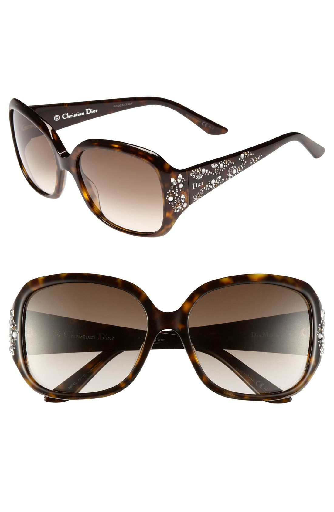 Alternate Image 1 Selected - Dior 'Minuit' 57mm Sunglasses