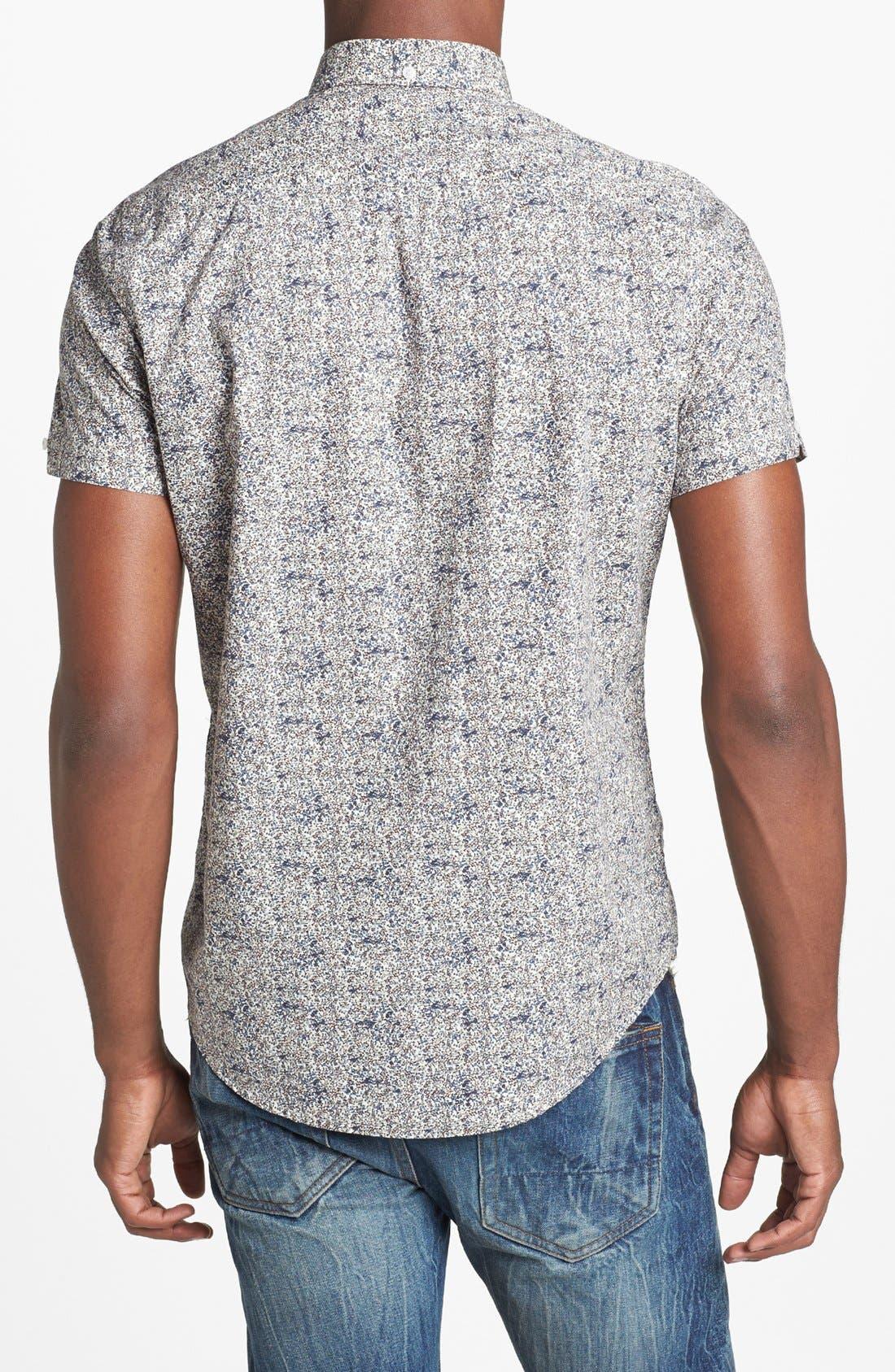 Alternate Image 2  - Ben Sherman Floral Print Short Sleeve Woven Shirt