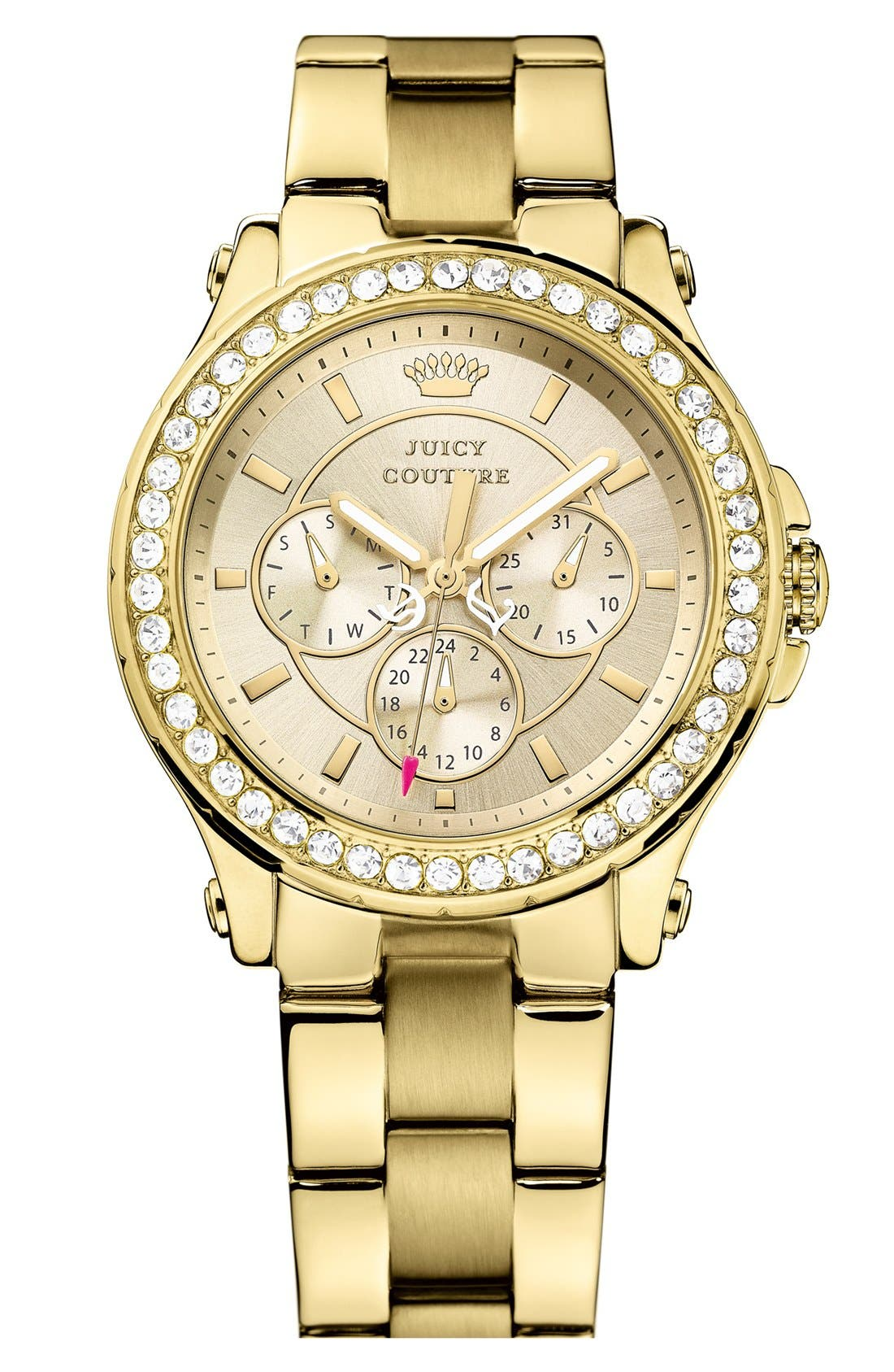 Alternate Image 1 Selected - Juicy Couture 'Pedigree' Multifunction Bracelet Watch, 38mm