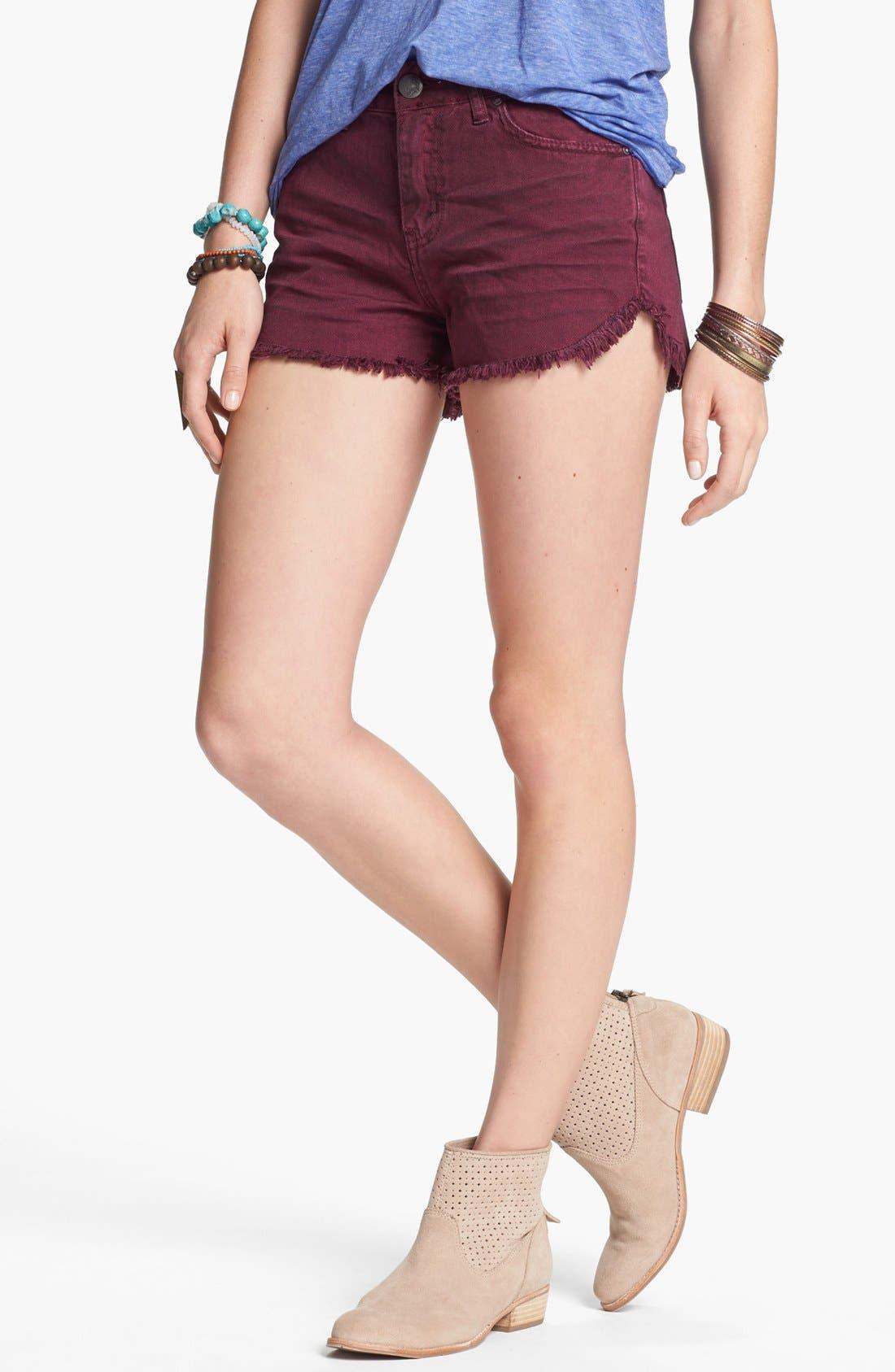 'Dolphin' Cutoff Denim Shorts,                         Main,                         color, Marsan Wash