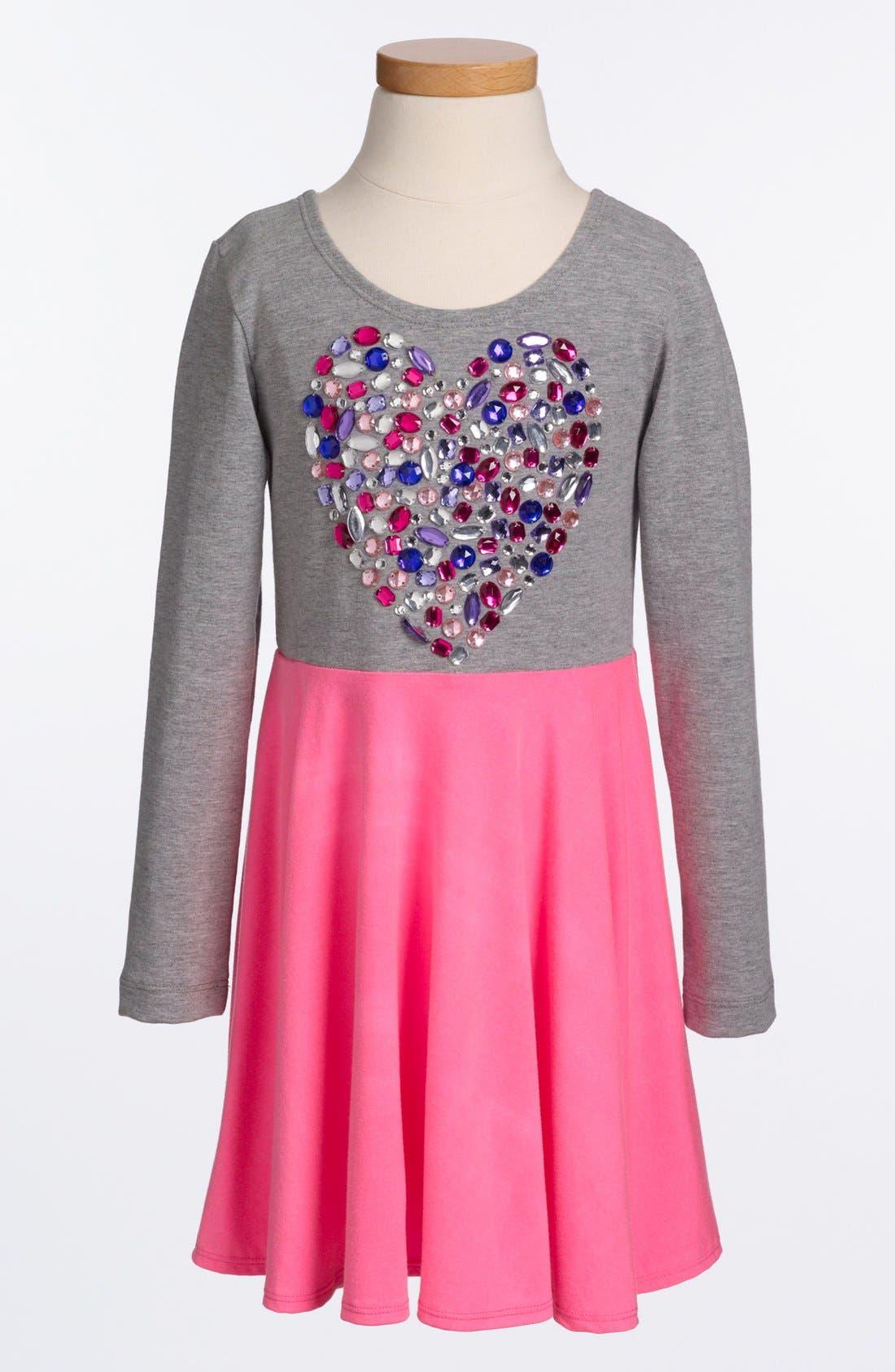 Main Image - Flowers By Zoe Heart Dress (Little Girls & Big Girls) (Online Only)