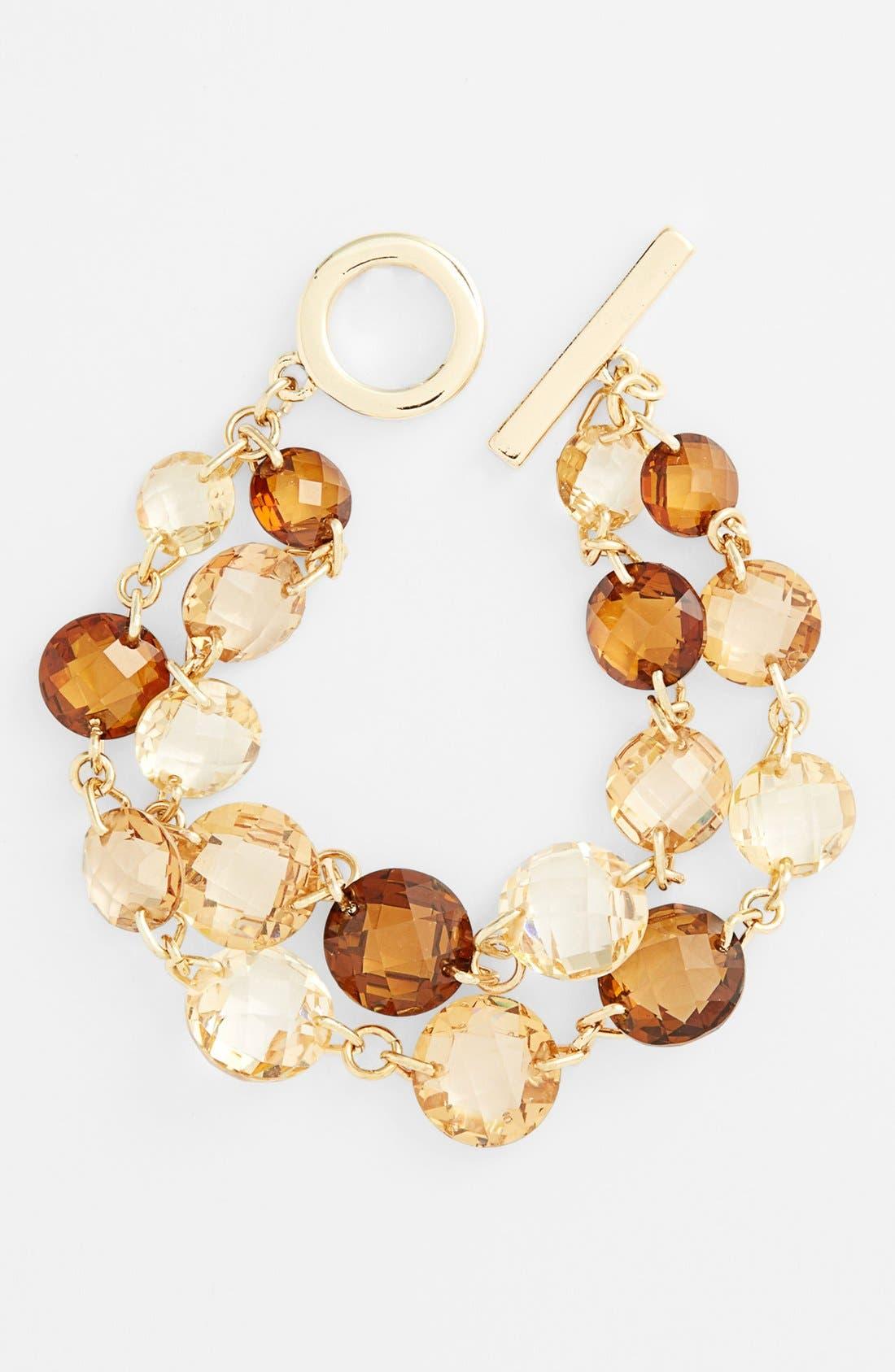 Alternate Image 1 Selected - Anne Klein 2-Row Line Bracelet