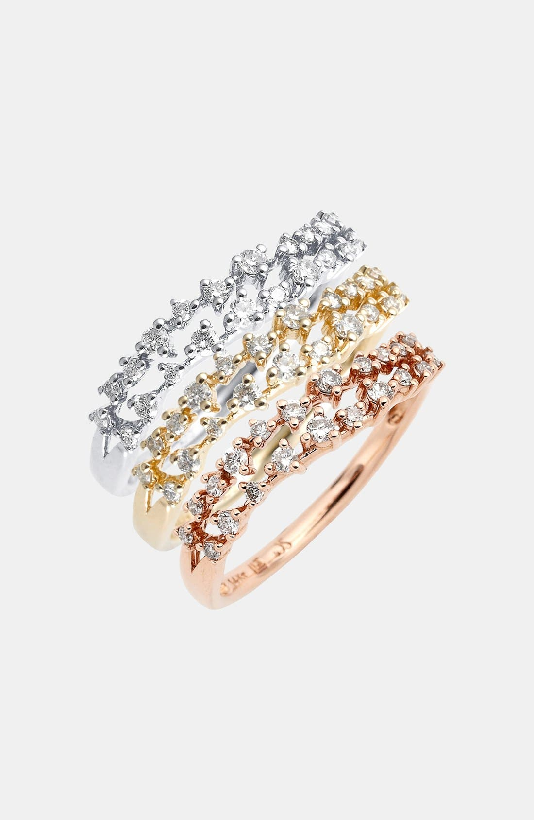 Alternate Image 1 Selected - Whitney Stern Wavy Diamond Ring
