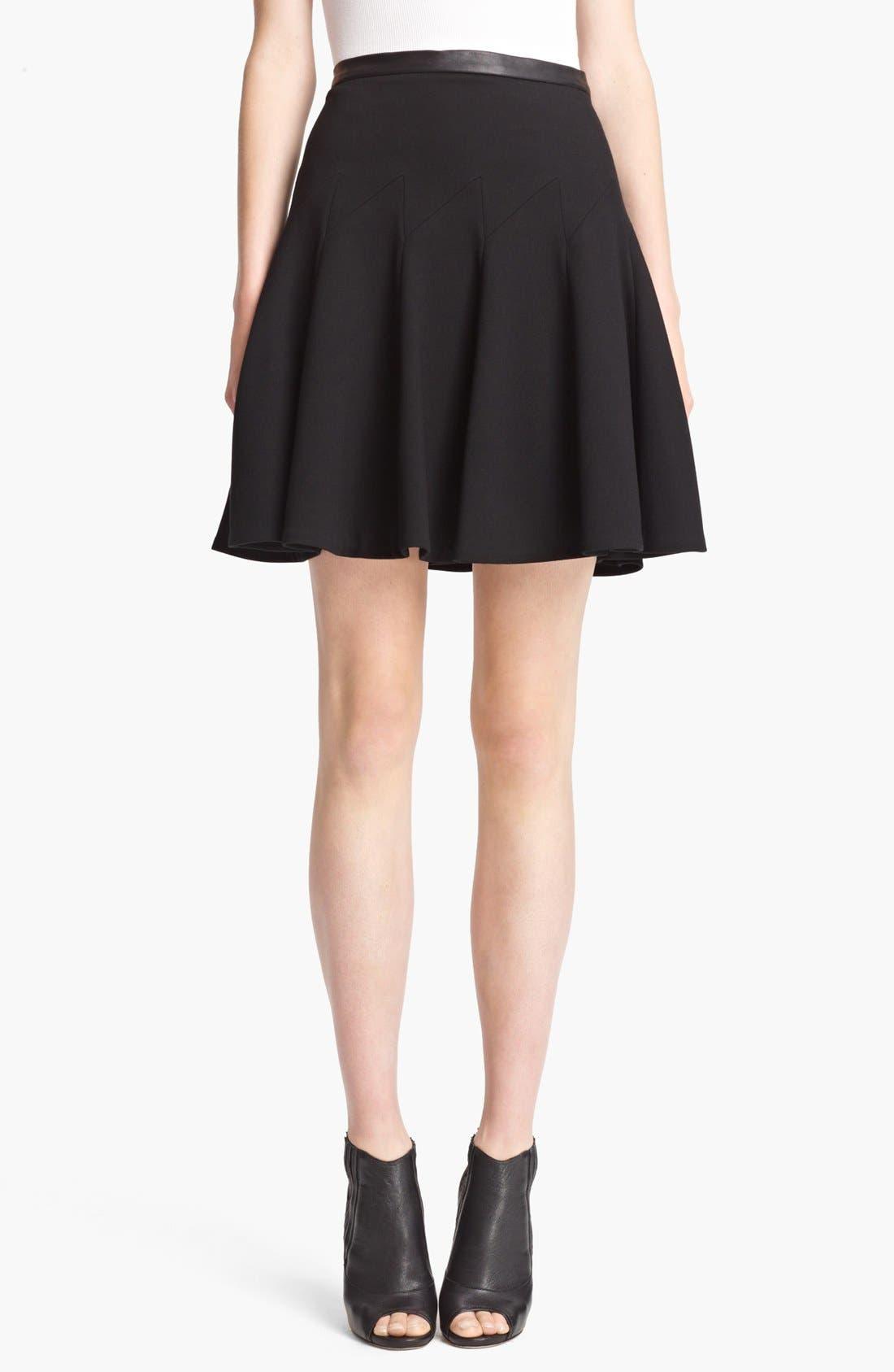 Alternate Image 1 Selected - Jason Wu Leather Waist Flounce Skirt