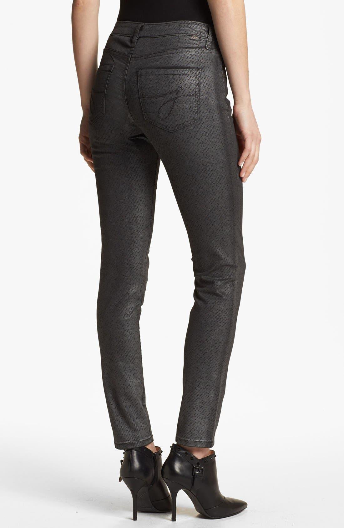 Alternate Image 2  - Jag Jeans 'Miranda' Metallic Coated Print Skinny Jeans (Regular & Petite)