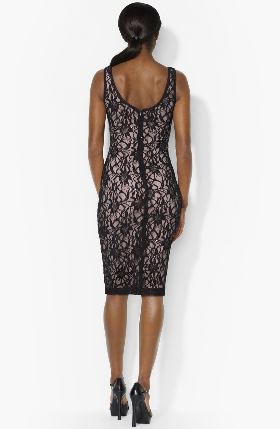 Alternate Image 2  - Lauren Ralph Lauren Embellished Lace Tank Dress