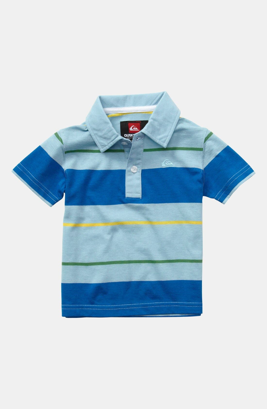 Alternate Image 1 Selected - Quiksilver 'Black Coffee' Polo (Toddler Boys)