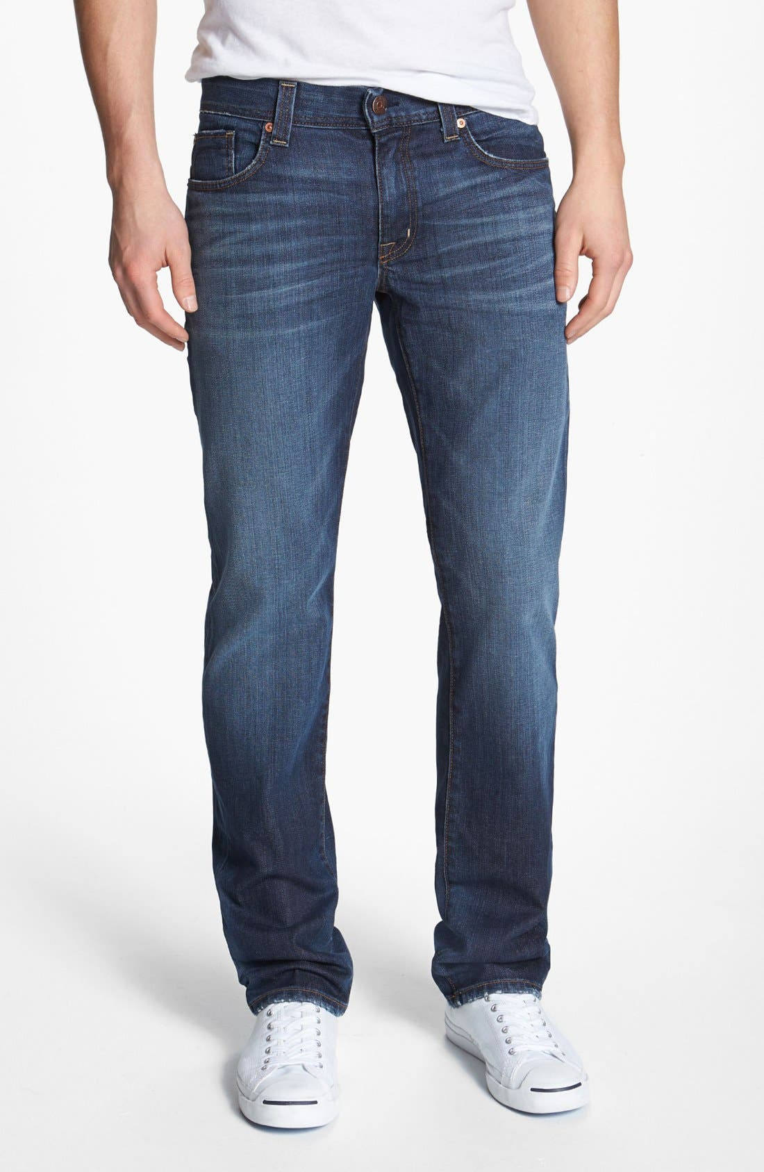 Alternate Image 1 Selected - Fidelity Denim 'Slim Jim' Slim Fit Jeans (Windsor Blue)
