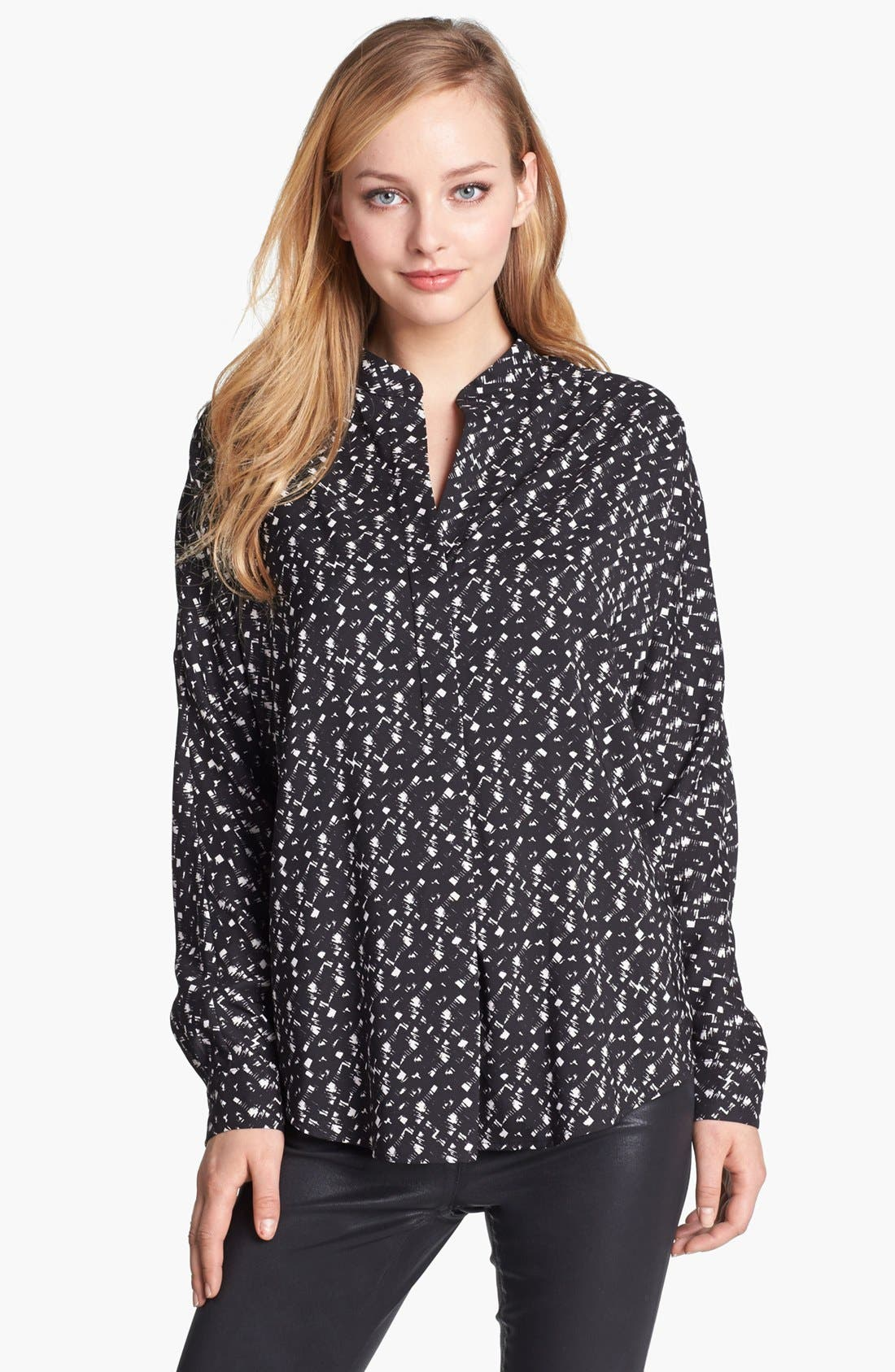 Alternate Image 1 Selected - Vince Camuto Print Split Neck Top