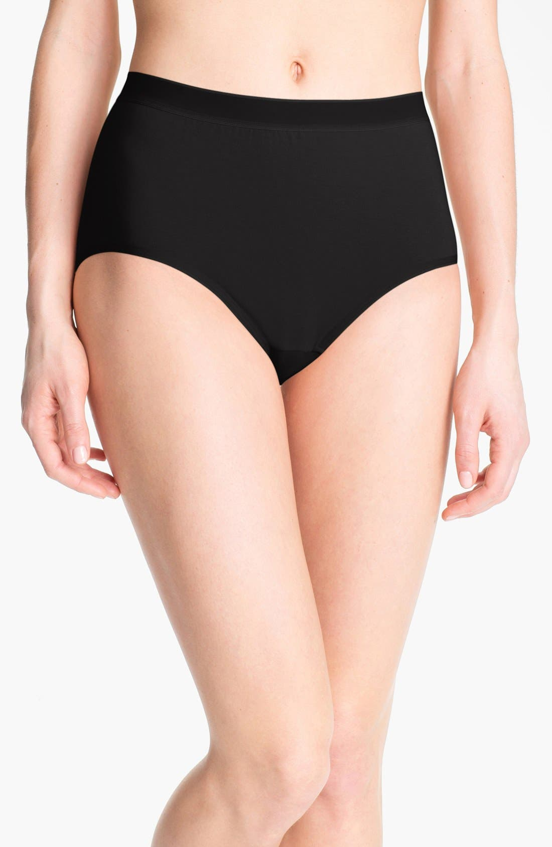 Main Image - Wacoal 'Cotton Suede' Tailored Briefs