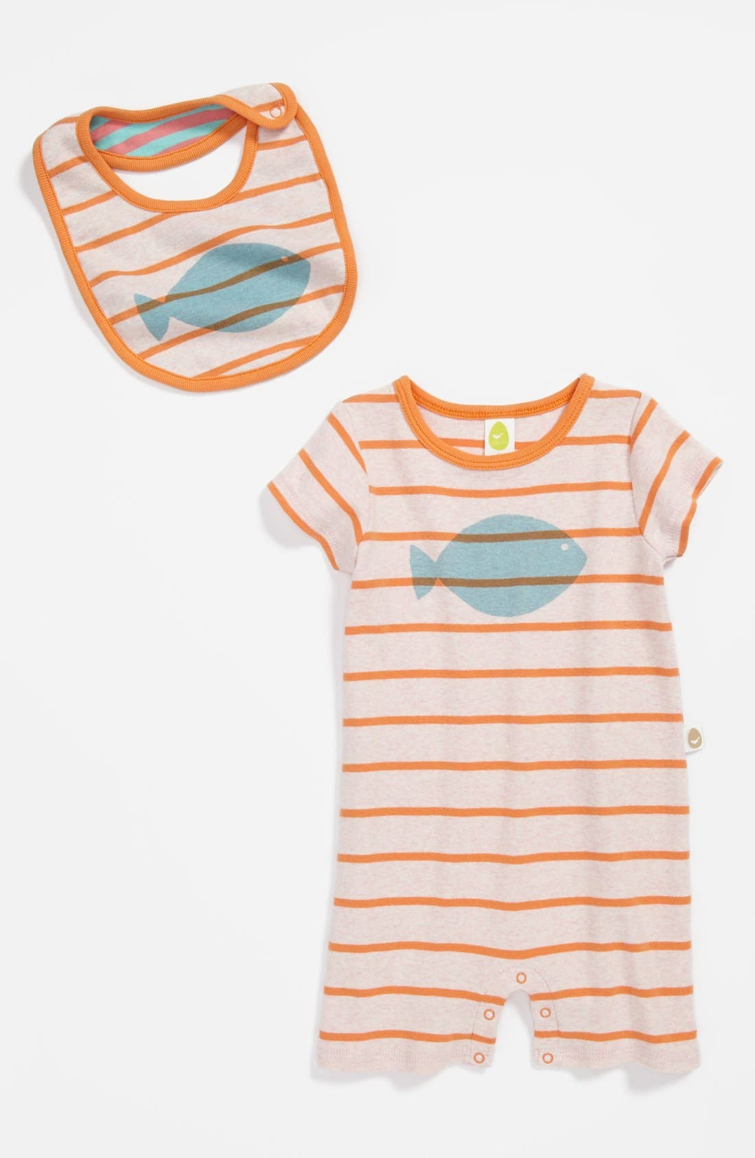 Alternate Image 1 Selected - Stem Baby Organic Cotton Romper & Bib (Baby)