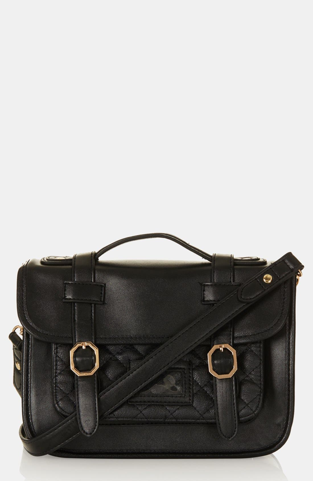 Main Image - Topshop 'Mary' Quilted Satchel, Small