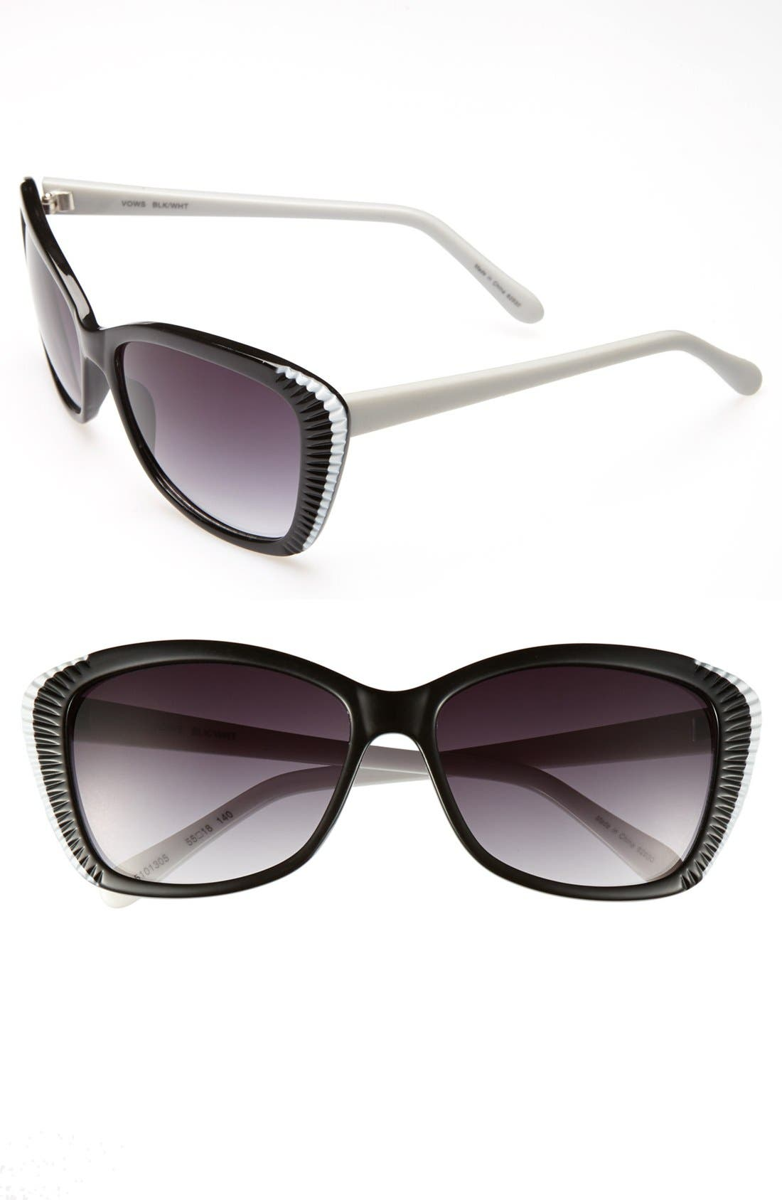 Alternate Image 1 Selected - Outlook Eyewear 'Vows' 55mm Sunglasses
