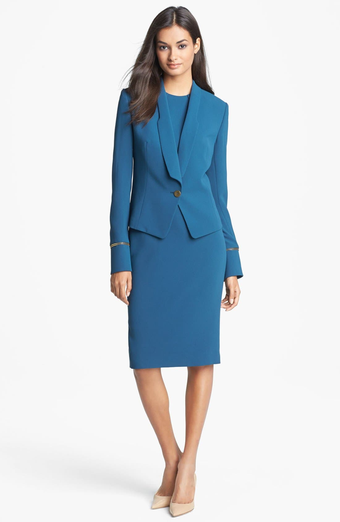 Alternate Image 1 Selected - Rachel Roy Fitted Crepe Jacket