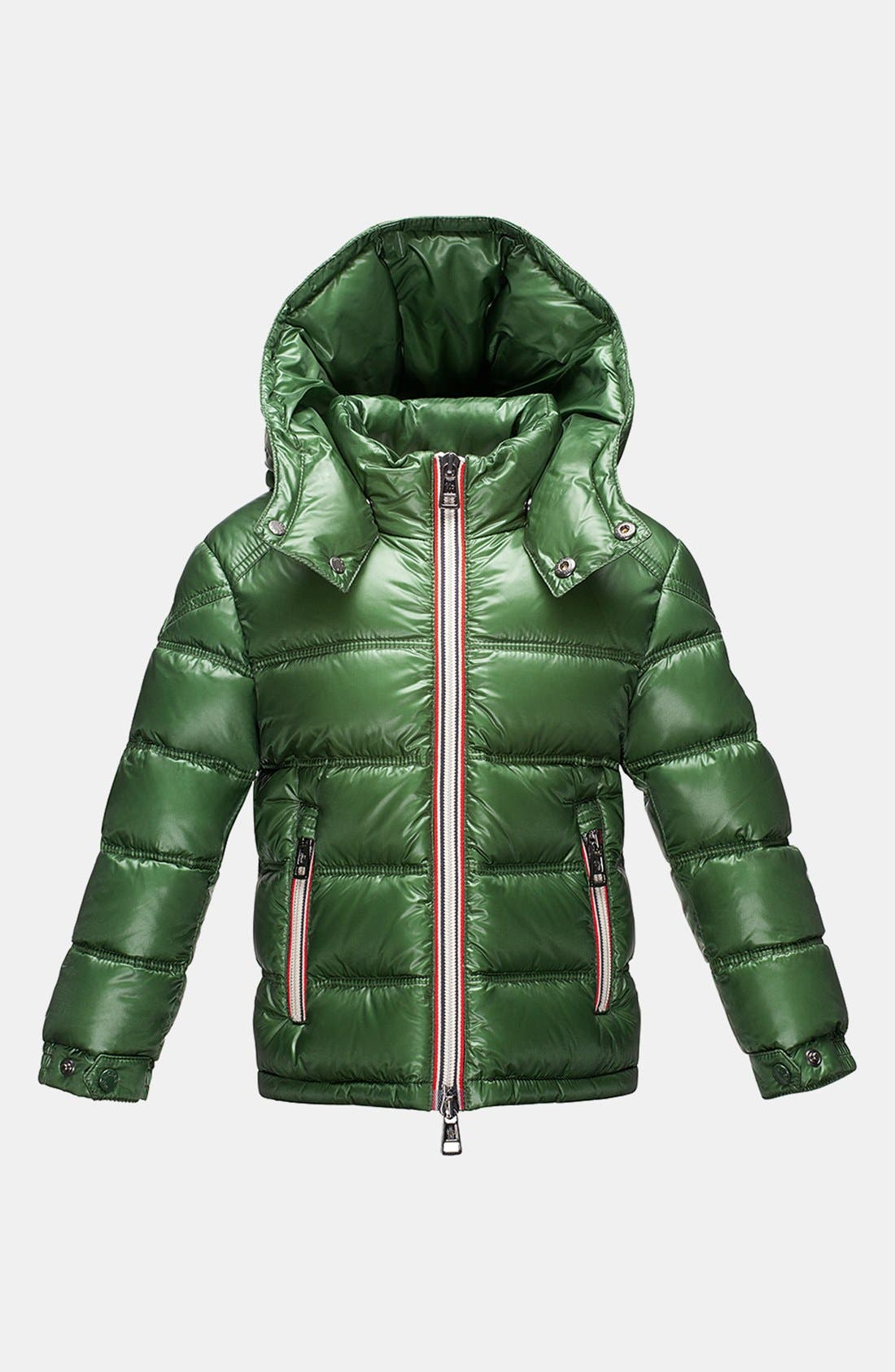 Alternate Image 1 Selected - Moncler 'Gaston' Hooded Down Jacket (Toddler Boys)