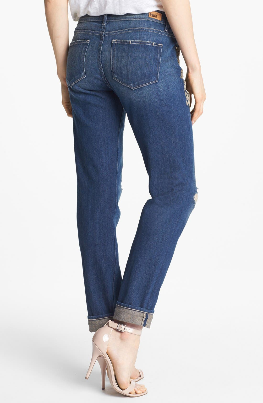 Alternate Image 2  - Paige Denim 'Jimmy Jimmy' Skinny Boyfriend Jeans (Josephine Destructed Harlequin)