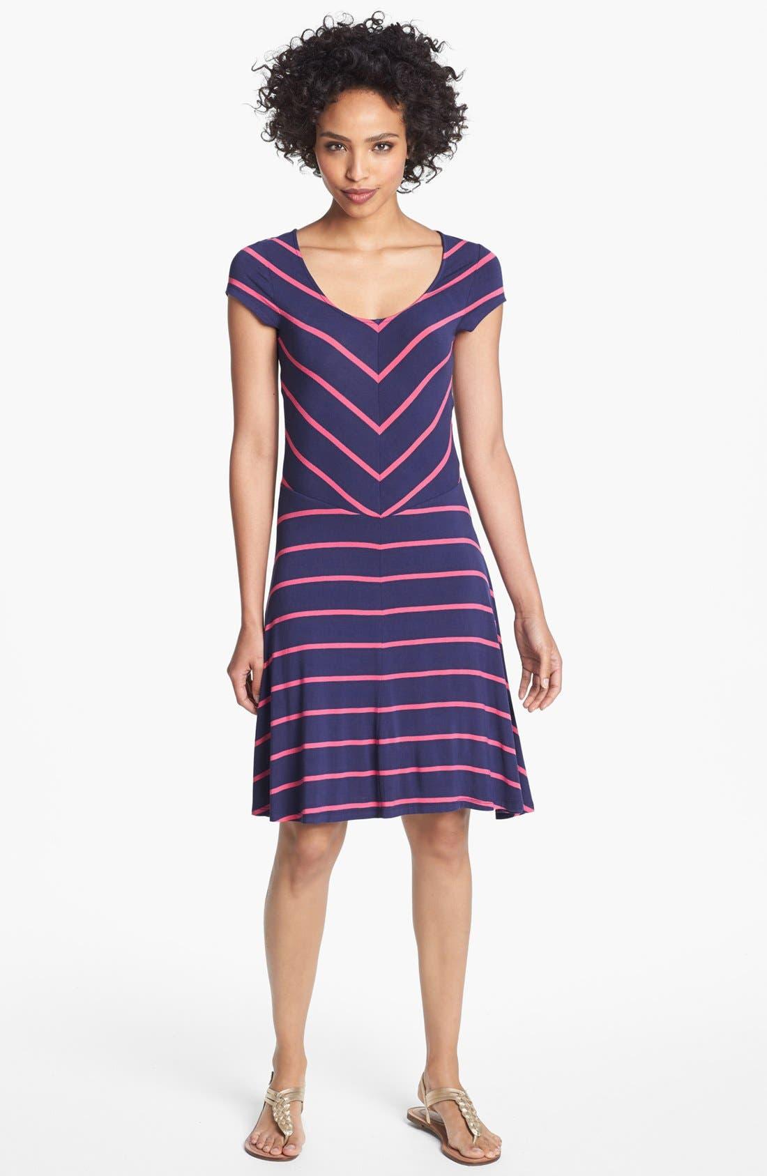 Alternate Image 1 Selected - Felicity & Coco Stripe Jersey Dress (Regular & Petite) (Nordstrom Exclusive)