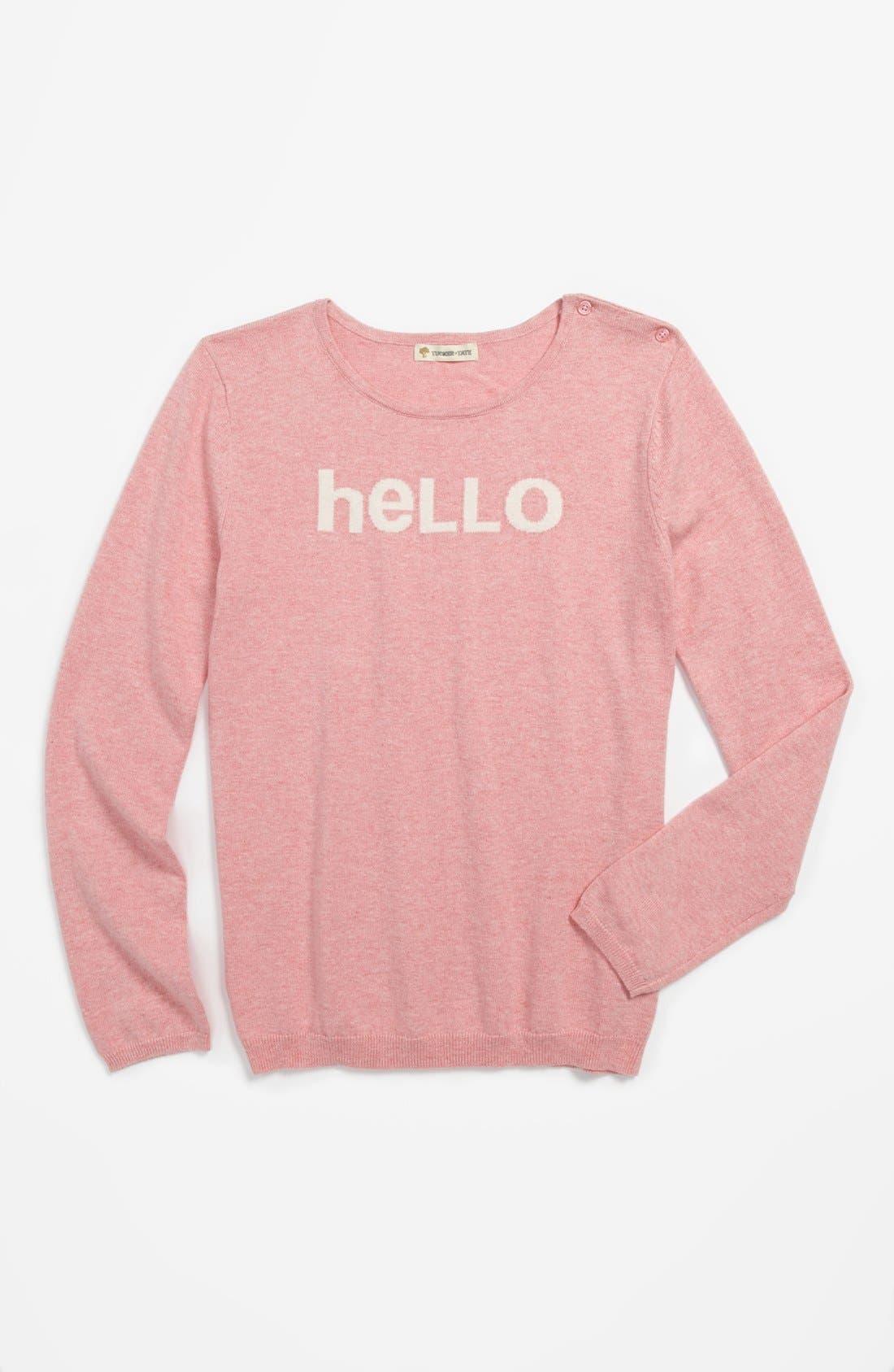 Main Image - Tucker + Tate 'Alexa' Intarsia Cotton & Cashmere Sweater (Big Girls)