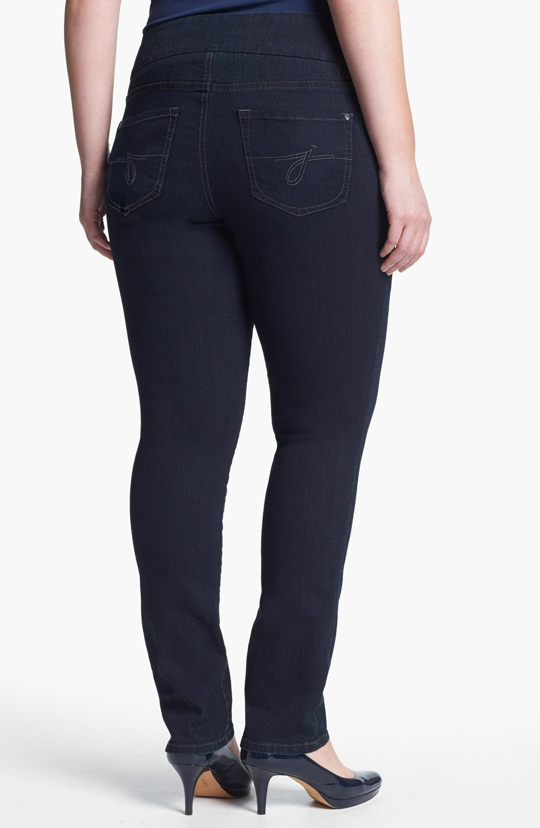 Alternate Image 2  - Jag Jeans 'Malia' Slim Leg Jeans (Plus Size)