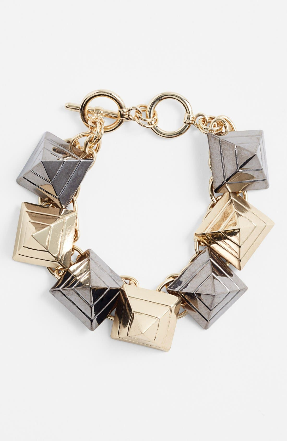 Alternate Image 1 Selected - Cara Couture Pyramid Stud Bracelet