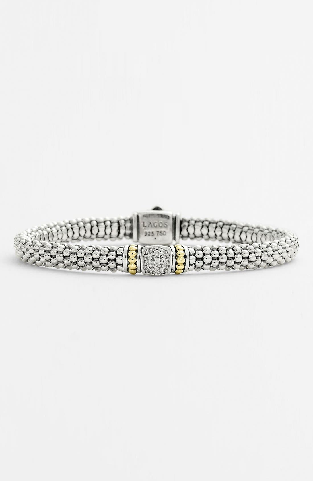 Alternate Image 1 Selected - Lagos Caviar™ Diamond Rope Bracelet (Nordstrom Exclusive)