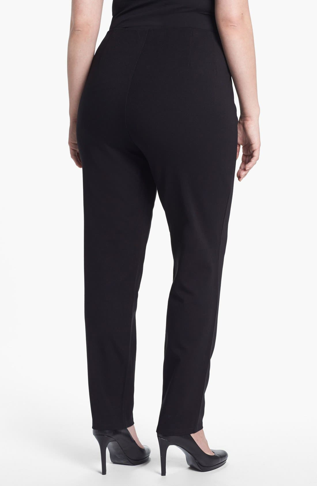 Alternate Image 2  - Eileen Fisher Slim Pants (Plus Size)