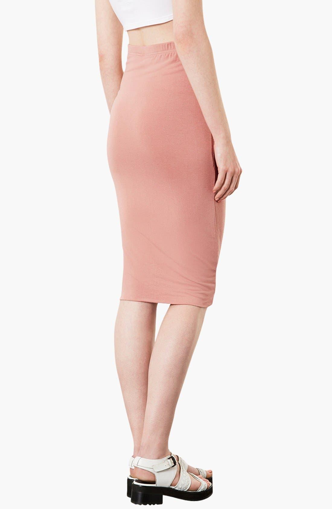 Alternate Image 2  - Topshop Knee-Length Tube Skirt