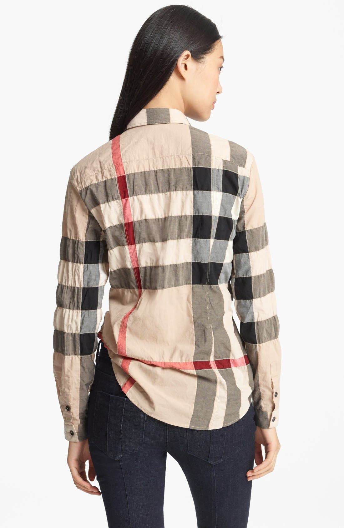 Alternate Image 2  - Burberry Brit Pucker Check Print Shirt