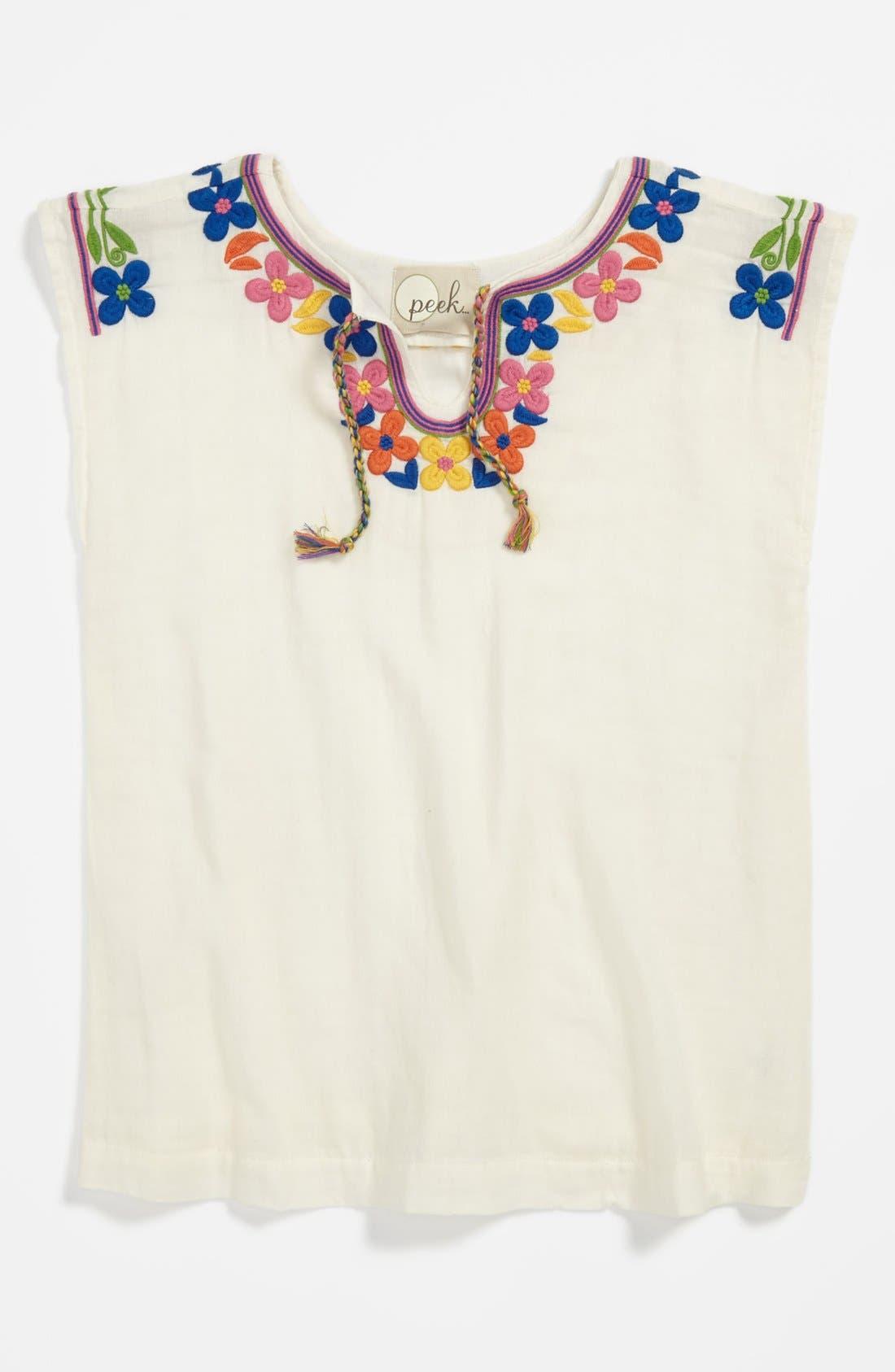 Main Image - Peek Sleeveless Top & Jeans (Toddler Girls, Little Girls & Big Girls)