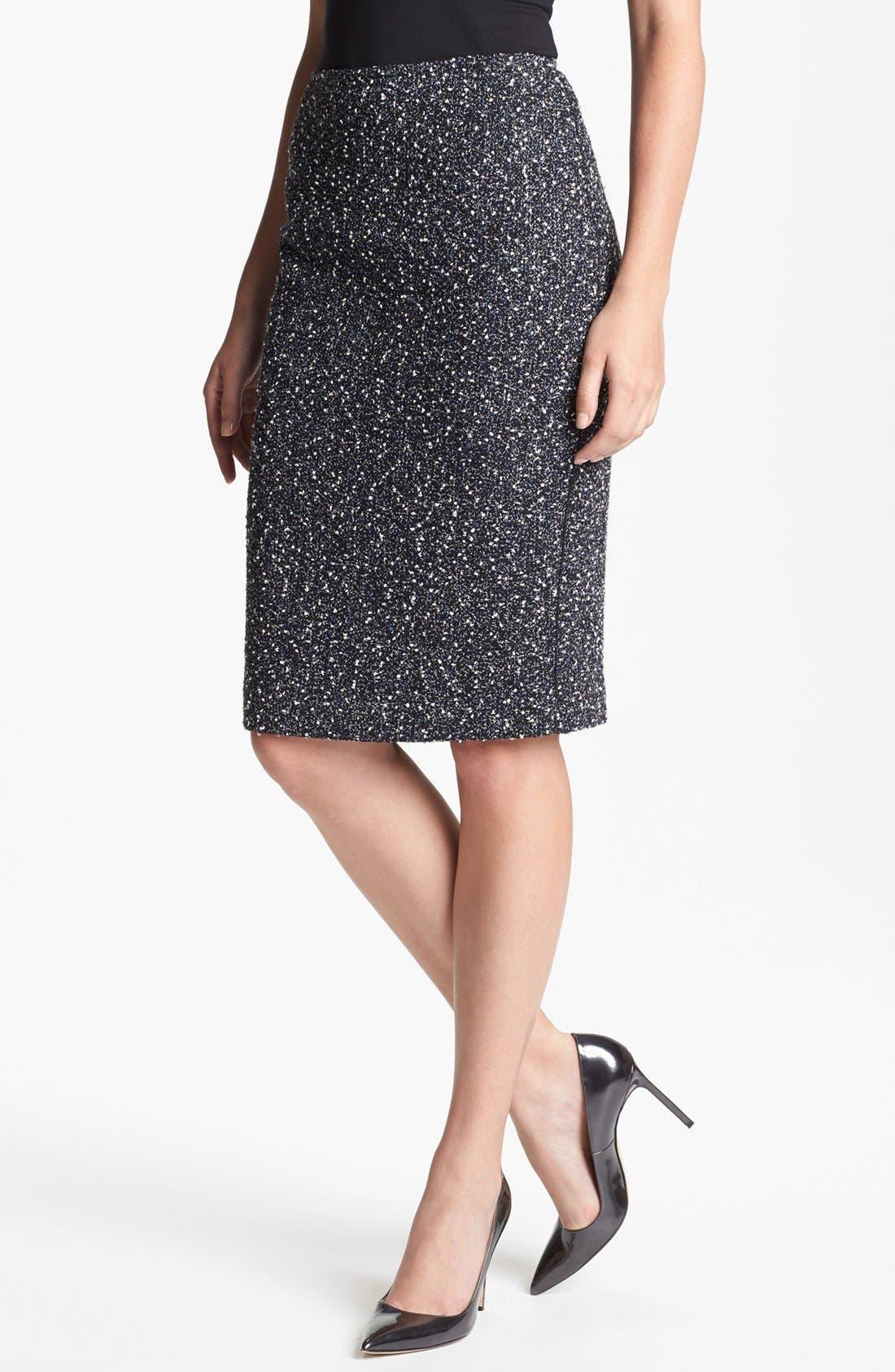 Main Image - Lafayette 148 New York 'Aviana' Odyssey Tweed Skirt