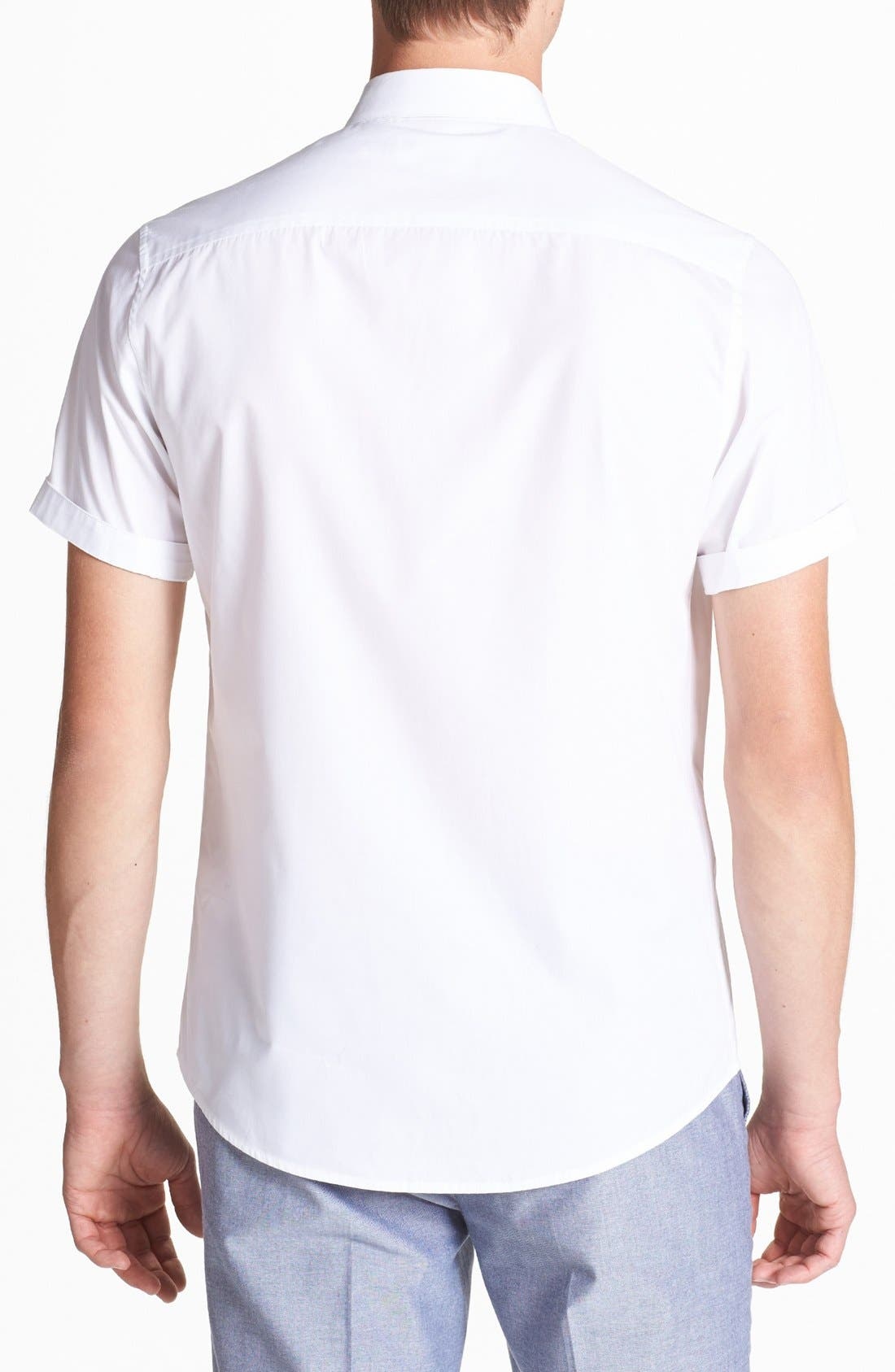 Alternate Image 2  - Topman Short Sleeve Shirt
