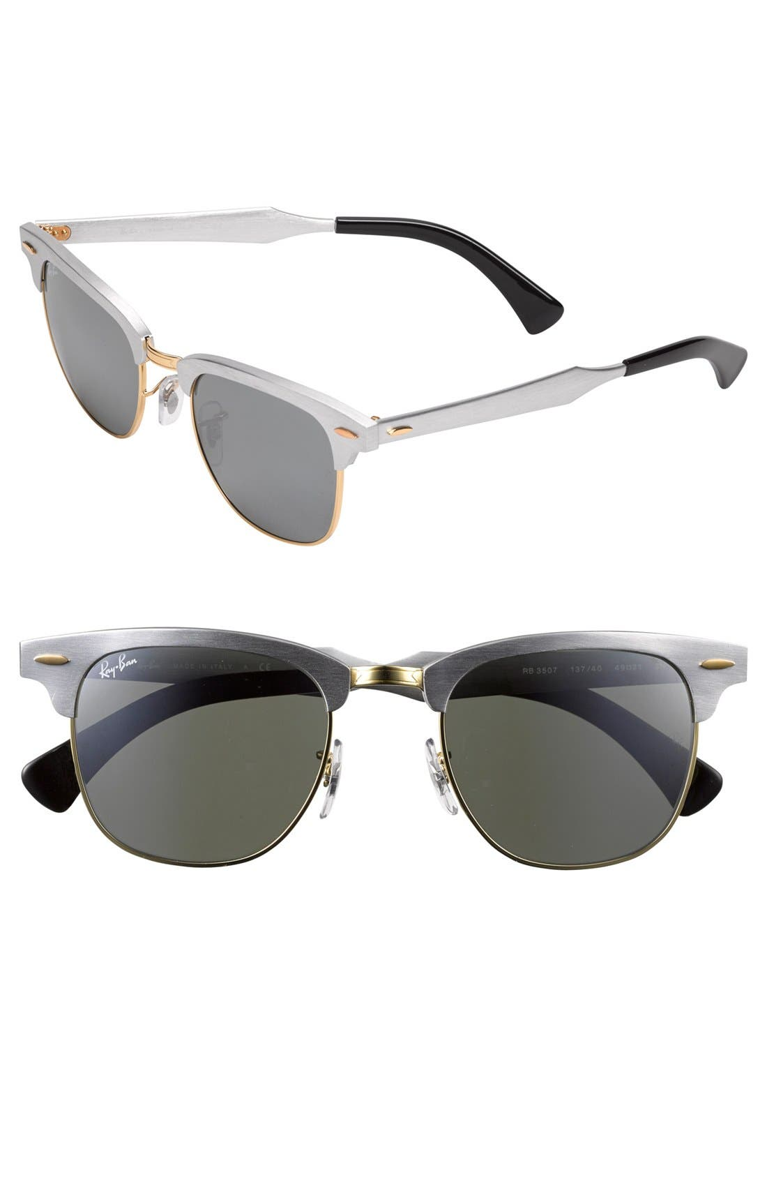 Main Image - Ray-Ban 'Clubmaster' 49mm Sunglasses