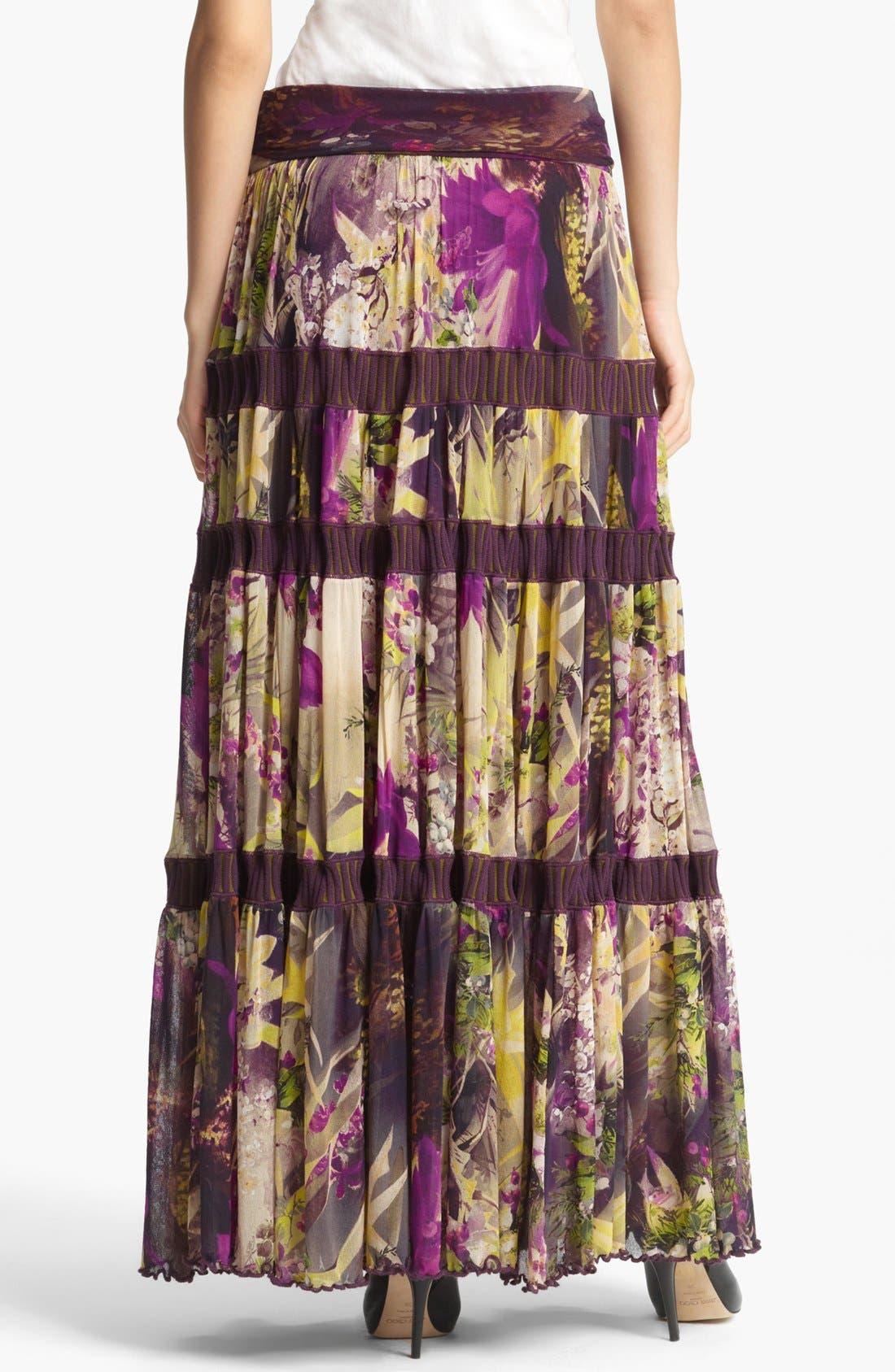 Alternate Image 2  - Jean Paul Gaultier Fuzzi Floral Print Tiered Tulle Skirt
