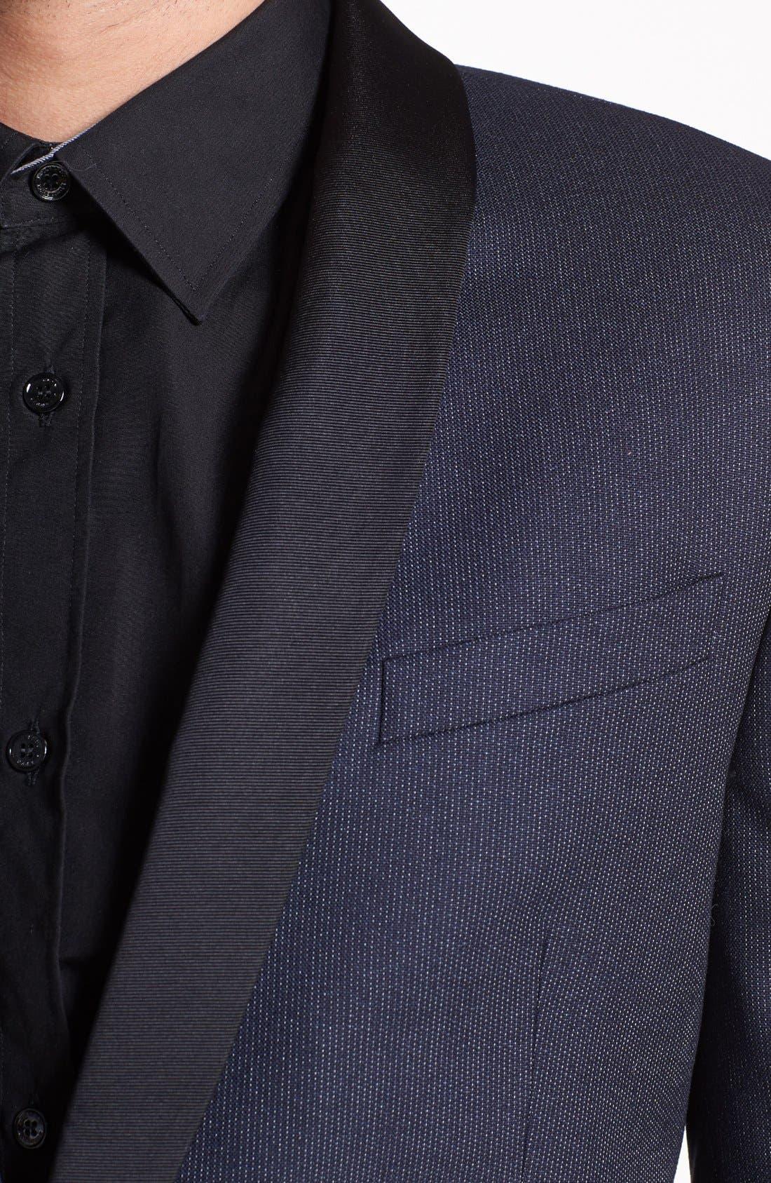 Alternate Image 2  - Paul Smith London Microstripe Wool Tuxedo