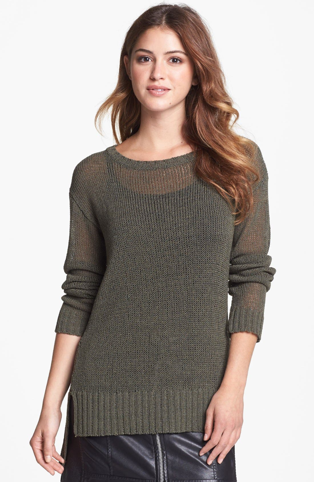 Main Image - Two by Vince Camuto Open Knit High/Low Sweater