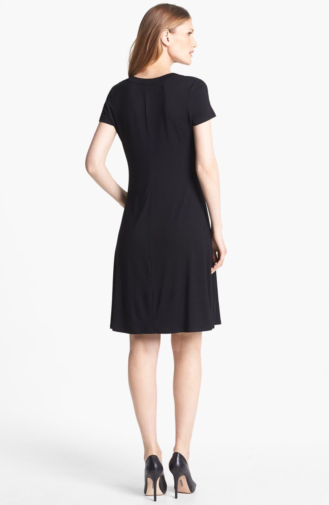 Alternate Image 2  - Karen Kane Scoop Neck Jersey Dress