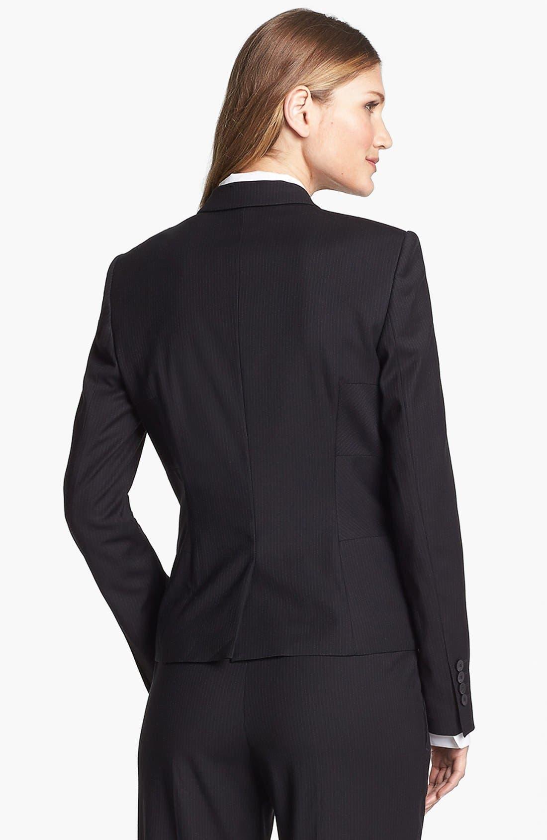 Alternate Image 2  - BOSS HUGO BOSS 'Jilisa' Pinstripe Jacket
