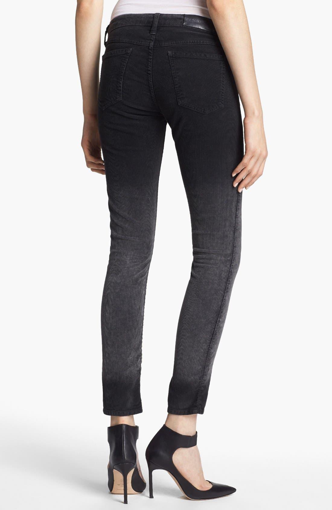 Alternate Image 3  - EACH X OTHER Skinny Deep Dye Corduroy Pants