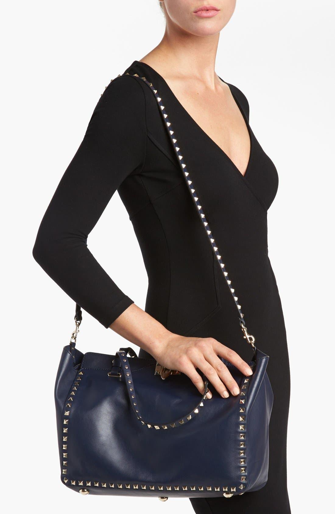 Alternate Image 2  - Valentino 'Rockstud - Medium' Double Handle Leather Tote