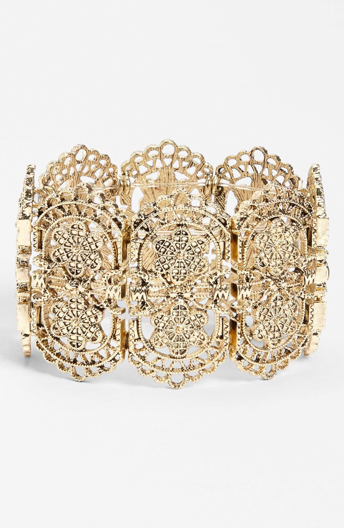 Main Image - Orion 'Gold Lace' Stretch Bracelet