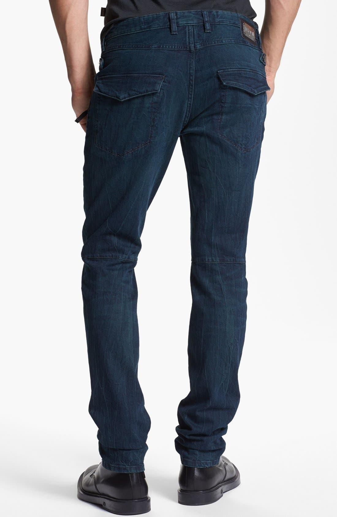 Alternate Image 2  - Just Cavalli Slim Fit Moto Jeans