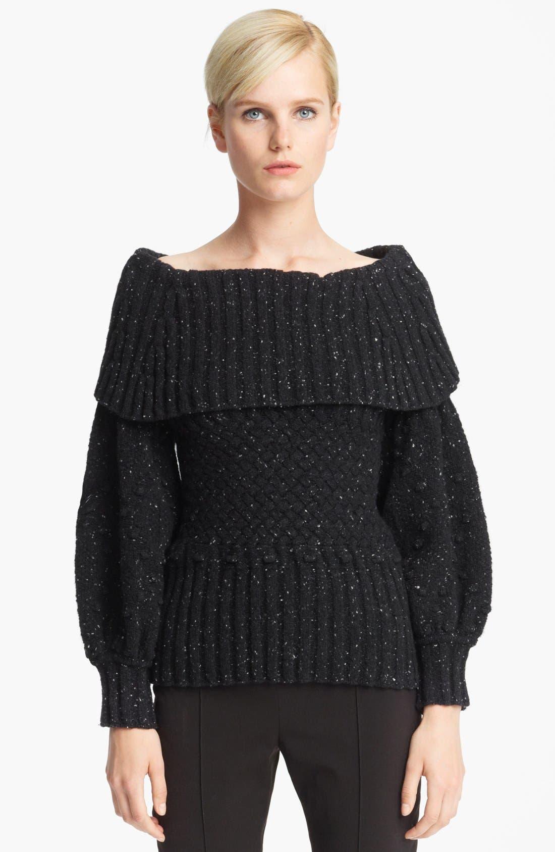 Alternate Image 1 Selected - Oscar de la Renta Ribbed Sweater